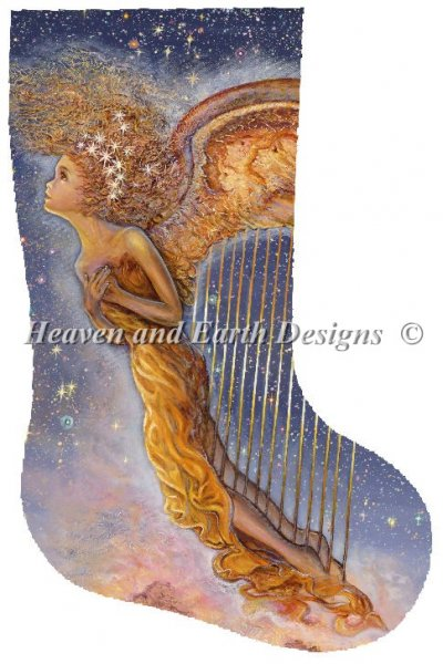 click here to view larger image of Harp Angel Stocking (chart)