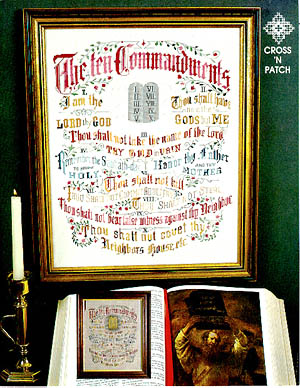 click here to view larger image of Ten Commandments (chart)