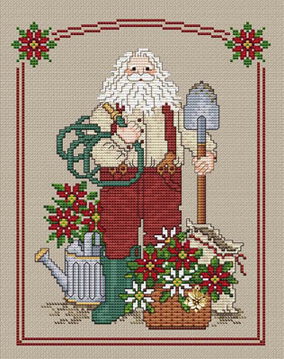 click here to view larger image of Poinsettia Santa (w/charm) (chart)
