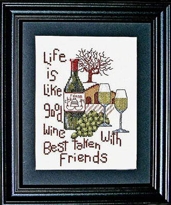 click here to view larger image of Good Wine, Good Friends (chart)