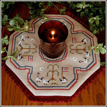 click here to view larger image of Little Candle Mats - American Sheep (chart)