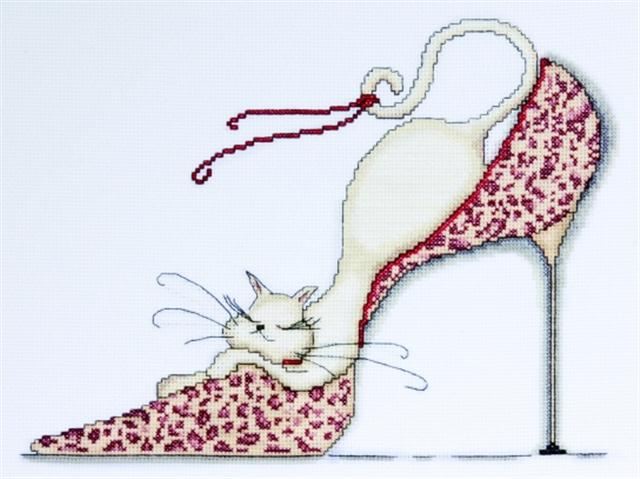 click here to view larger image of Leopard Shoe (counted cross stitch kit)
