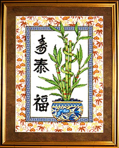 click here to view larger image of Lucky Bamboo (counted cross stitch kit)