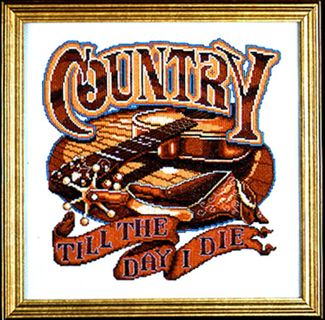 click here to view larger image of Country Music (counted cross stitch kit)