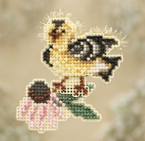 click here to view larger image of Goldie Finch (counted cross stitch kit)