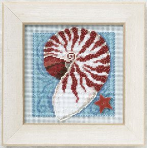 click here to view larger image of Nautilus Shell (counted cross stitch kit)