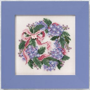 click here to view larger image of Hydrangea Wreath (counted cross stitch kit)