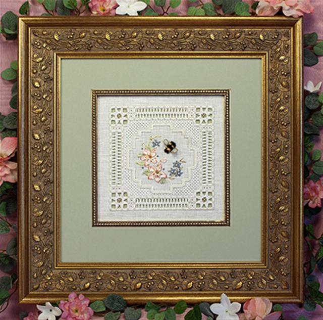 click here to view larger image of Bumblebee Lace Sampler (chart)