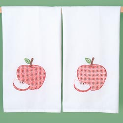 click here to view larger image of Apples (stamped cross stitch)