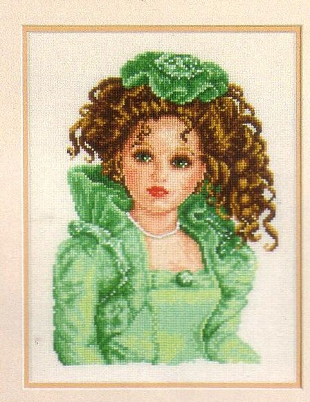 click here to view larger image of Porcelain Doll Green (counted cross stitch kit)