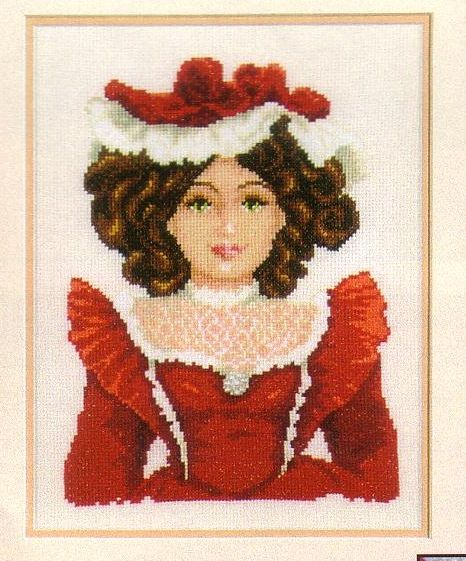 click here to view larger image of Porcelain Doll Red (counted cross stitch kit)