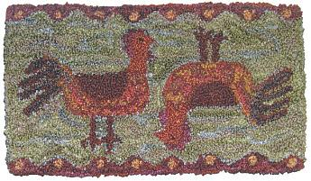 click here to view larger image of Topsy Turvy Chickens (Punchneedle)