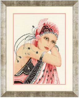 click here to view larger image of Pink Lady (aida) (counted cross stitch kit)