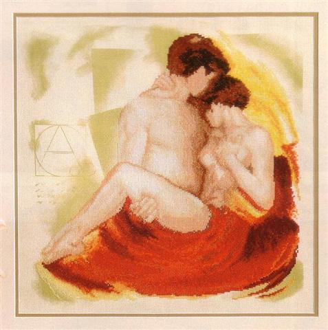 click here to view larger image of Tender Moment (counted cross stitch kit)