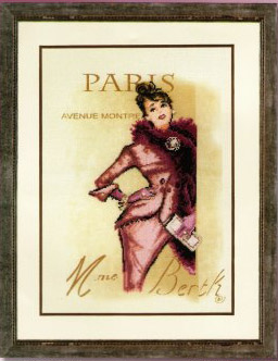 click here to view larger image of Paris Socialite (counted cross stitch kit)