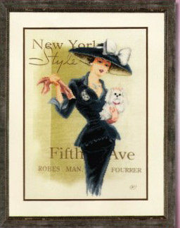click here to view larger image of New York Socialite (counted cross stitch kit)