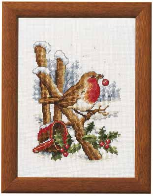 click here to view larger image of Christmas Robin (counted cross stitch kit)