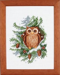 click here to view larger image of Christmas Owl (counted cross stitch kit)
