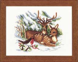 click here to view larger image of Christmas Deer (counted cross stitch kit)