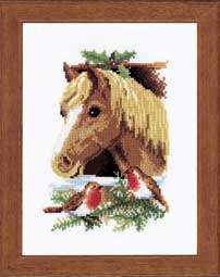 click here to view larger image of Christmas Horse (counted cross stitch kit)