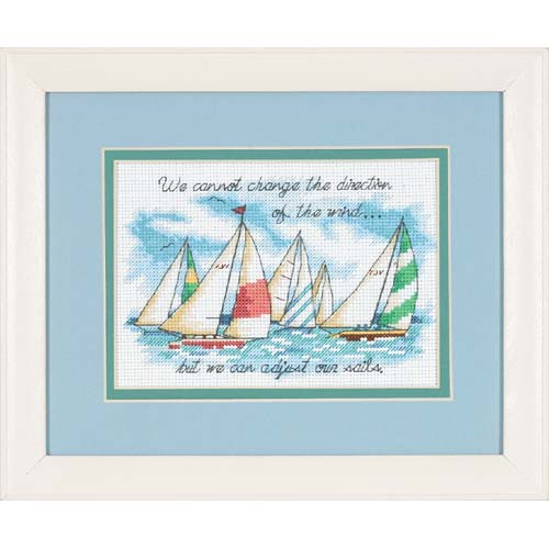 click here to view larger image of Adjusting Our Sails (counted cross stitch kit)