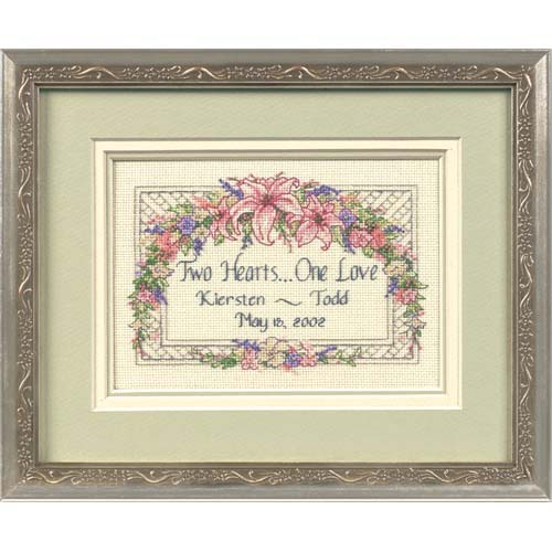 click here to view larger image of One Love Wedding Record (counted cross stitch kit)