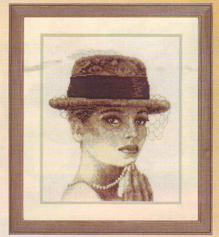 click here to view larger image of Lady With Hat (counted cross stitch kit)