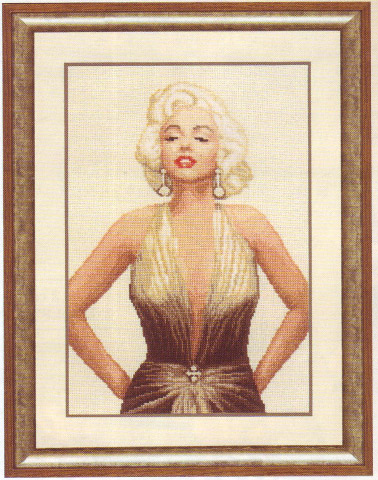 click here to view larger image of Marilyn Monroe (counted cross stitch kit)