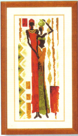 click here to view larger image of Savannah Couple/African Pals (counted cross stitch kit)