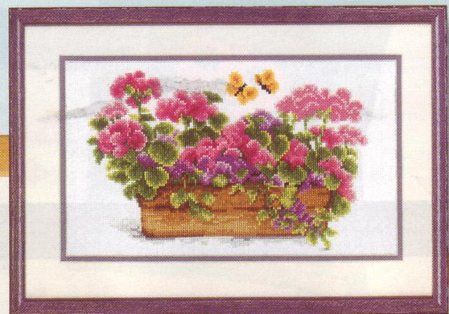 click here to view larger image of Floral Pot (counted cross stitch kit)