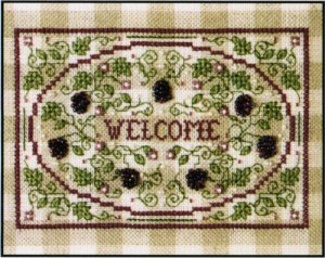 click here to view larger image of Blackberry Welcome (counted cross stitch kit)