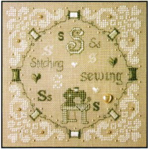 click here to view larger image of S Is For Stitching and Sewing (counted cross stitch kit)