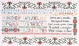 click here to view larger image of Sampler For Merry Pat, A (chart)
