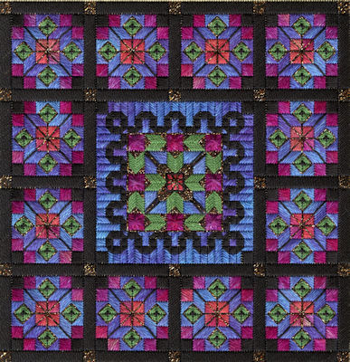 click here to view larger image of Stained Glass Quilt (counted canvas chart)