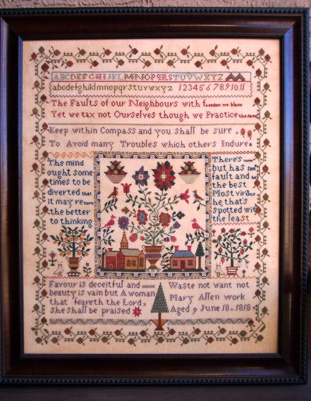 click here to view larger image of Village Square Sampler - Mary Allen 1818 (chart)