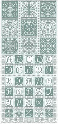click here to view larger image of Antique Tin Tiles (chart)