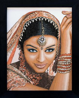 click here to view larger image of Indian Model - 27ct (counted cross stitch kit)