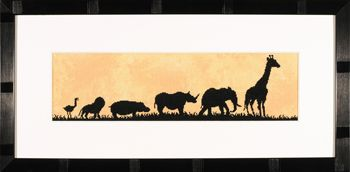 click here to view larger image of Parade of Wild Animals (counted cross stitch kit)