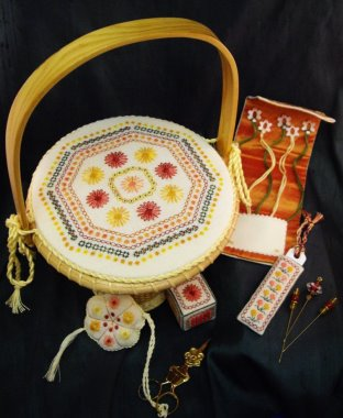 click here to view larger image of Daisy Daisy Basket (chart)