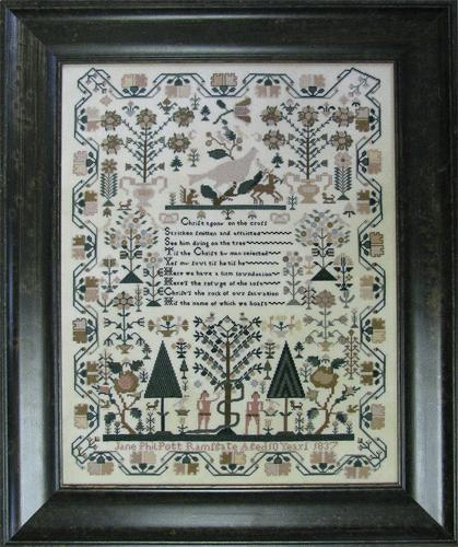 click here to view larger image of Jane Philpott Adam & Eve Sampler (chart)