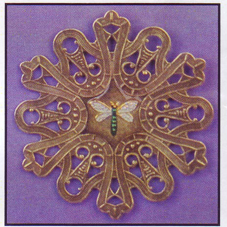 click here to view larger image of Ribboned Dragonfly - Vintage Winder (accessory)