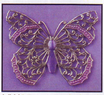 click here to view larger image of Silver Filigree Butterfly  - Vintage Winder (accessory)