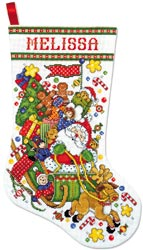 click here to view larger image of Santa & Sleigh Stocking (counted cross stitch kit)