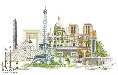 click here to view larger image of Paris - Aida (counted cross stitch kit)