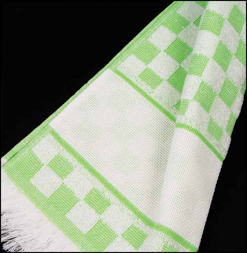 click here to view larger image of Verona Kitchen Towel - Green (stitchable)