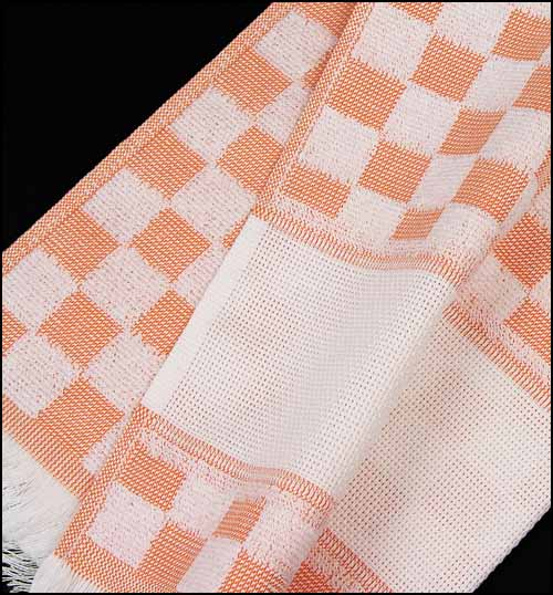 click here to view larger image of Verona Kitchen Towel - Orange (stitchable)