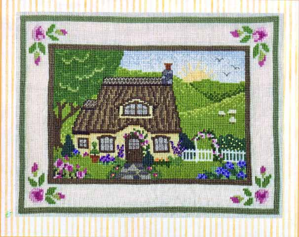click here to view larger image of English Cottage (cross stitch) (chart)
