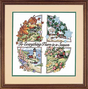 click here to view larger image of Season For Everything, A (stamped cross stitch kit)