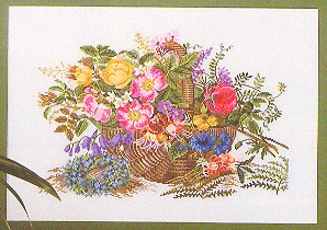 click here to view larger image of Floral Basket (counted cross stitch kit)