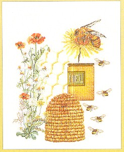 click here to view larger image of Bee Hive (counted cross stitch kit)